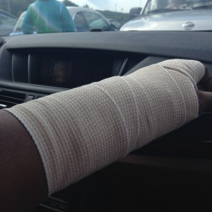 Bandaged Wrist Right After Surgery